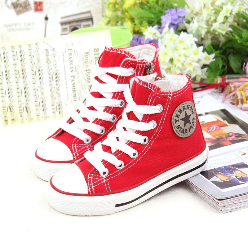2015Brand children's shoes fashion leisure children canvas shoes girl boy sneakers cowboy(China (Mainland))