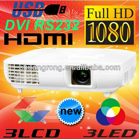 New 3000lms 3LCD 3LED 1080P Full HD LED Video Projector Proyector 1920×1080