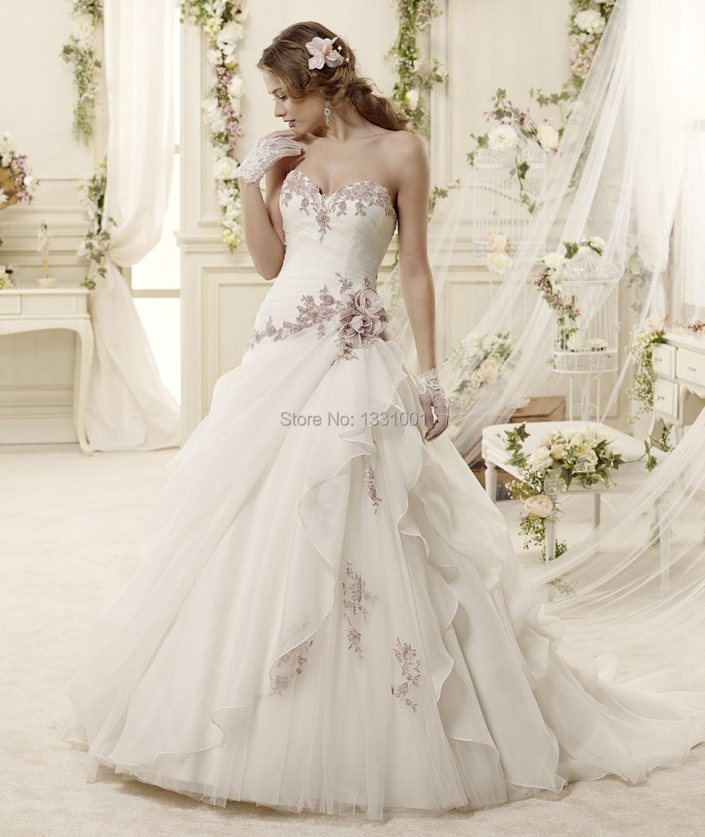 2016 romantic vintage wedding dress plus size ball gown for Wedding dresses prices and pictures