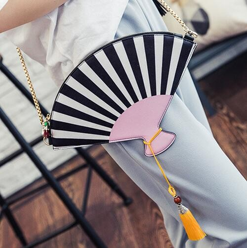 M544 Cute Taste Personality  Fashion  Fan   PU leather Messenger Bags  Small Size Summer Girl Gift