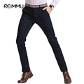 Reimmu Casual Pants Men New Fashion Brand Slim Fit Male Trousers High Quality Oversized Mens Clothing