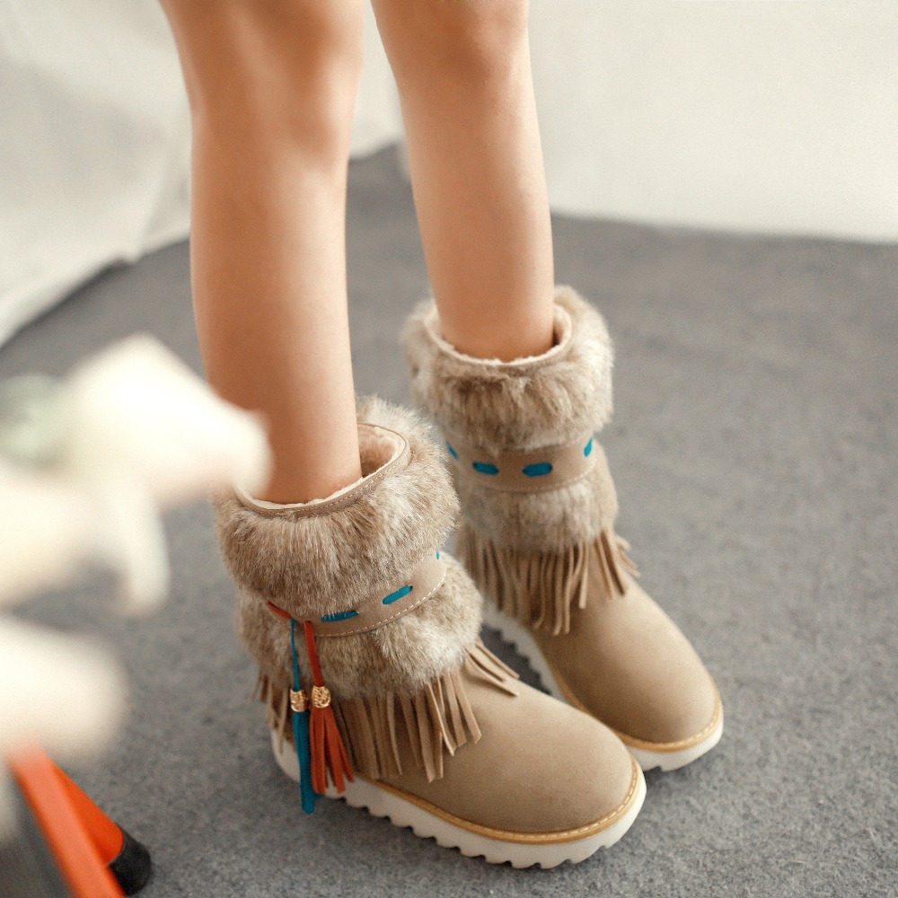 Fantastic Cute Flat Brown Leather Boots New Style Women Boots Ankle