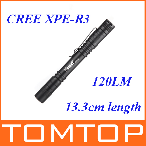 13.3cm Mini AAA CREE LED Flashlight Pocket Torch Light 120LM 1 Switch Mode(China (Mainland))