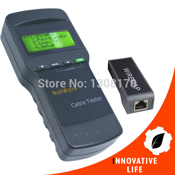 Digital Twisted Wire Tester Meter Cat5 RJ45 STP UTP LAN Phone Coaxial Network Cable Tester(China (Mainland))