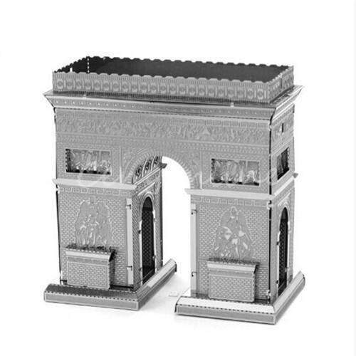 New 7 models Metallic Steel for Nano 3D DIY Jigsaw Puzzle Model Toy Gift Arc De Triomphe Sydney Opera House London Tower Bridge(China (Mainland))