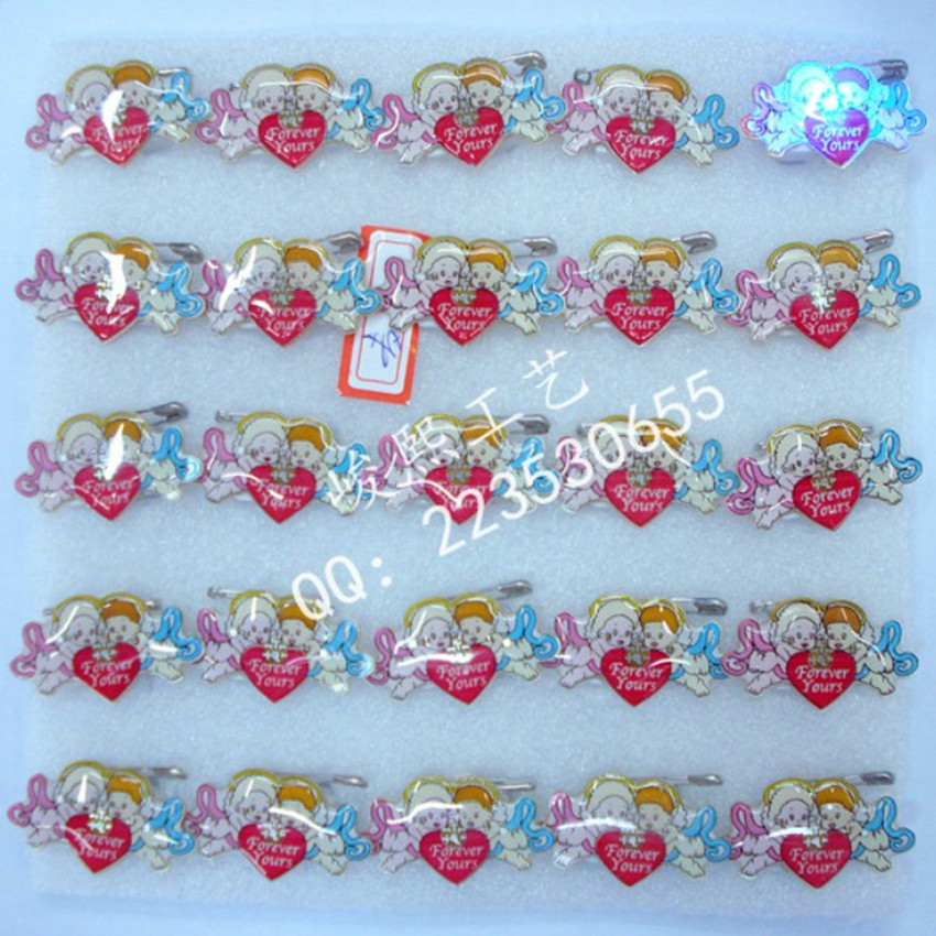 Cupid hot-selling flash brooch led corsage xiongpai flasher badge props - Jolly Zhu's store