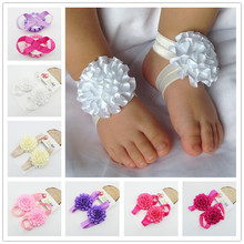 Baby Gilrs Flower Socks Babe Barefoot Sandals Cute Toddlers Summer Footwear Newborn Photo Props Free Drop Shipping New Fashion(China (Mainland))