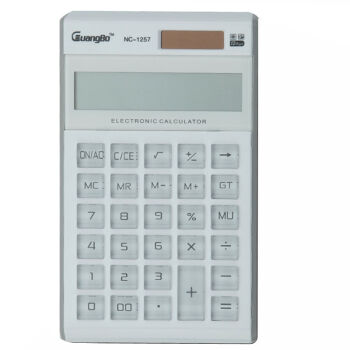 12 Digits Display Solar Dual Power Large Screen GT Total Scientific Calculator White Crystal Buttons Business Calculator(China (Mainland))