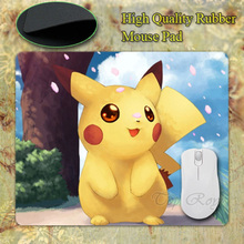 Anti-Slip PC Cute Cartoon Anime Pokemon Pikachu Silicon Mouse Mat Pad Mice Optical - BRIGHT CAPSID store