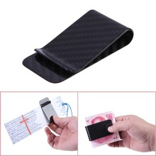 ON SALE Real Carbon Fiber Money Clip Business Card Credit Card Cash Wallet Polished H1E1(China (Mainland))