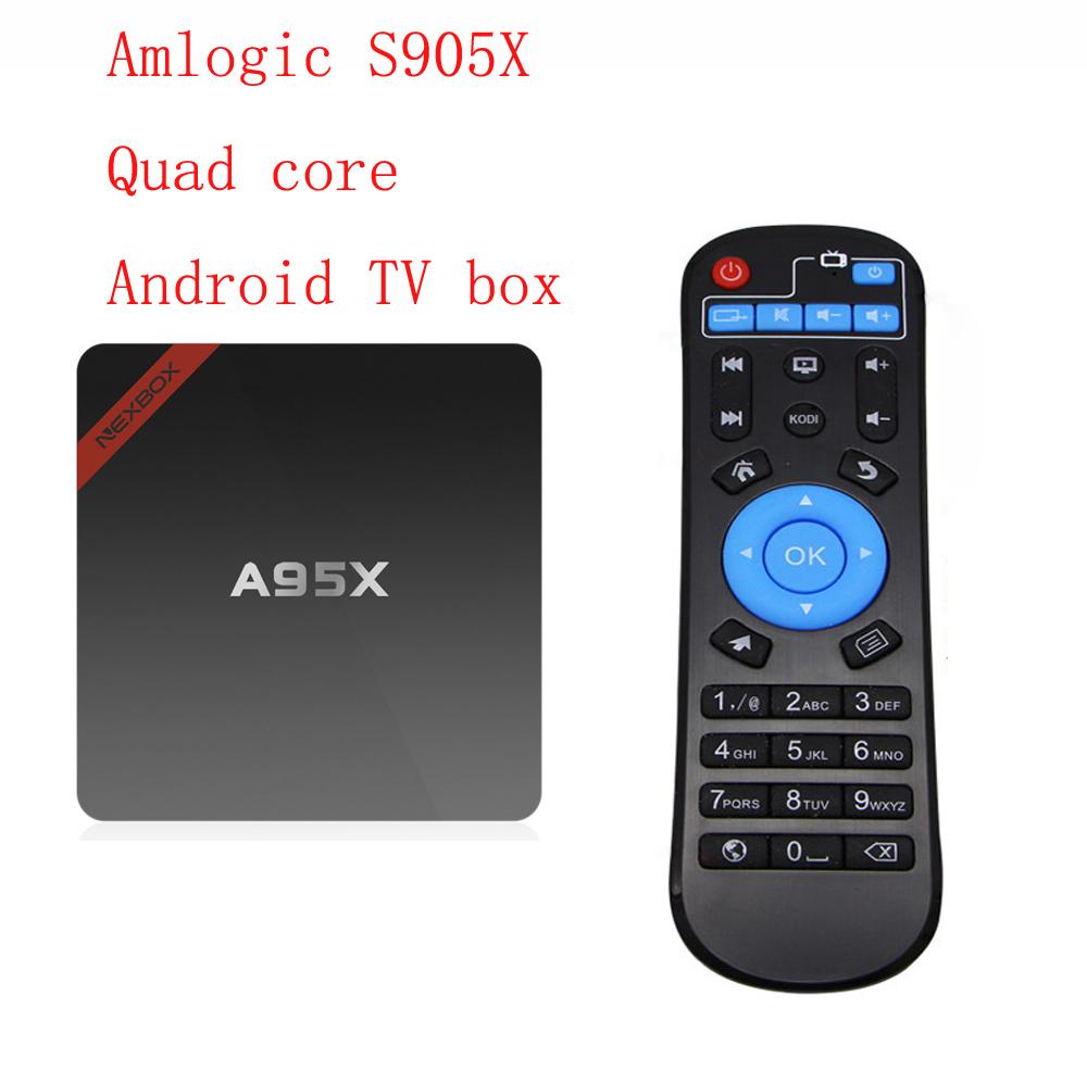 A95X Amlogic S905X Quad Core Mini PC RAM1/2G ROM8/16G Wifi 4K HD Android TV Box(China (Mainland))
