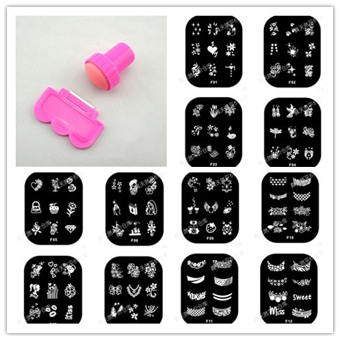1set christmas nail stamping plates new arrival,konad stamping nail art hehe nail stamp set jq nail stamper template(China (Mainland))