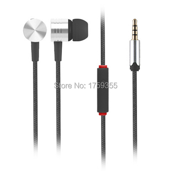 Hot 3.5mm Stereo Bass in-ear headset earphone Headphone With Mic for Android mobile iphone 4 5 Plus 6 iPod HTC Xiaomi MP3 E4-BK(China (Mainland))