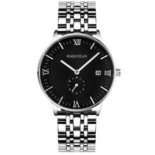 KASHIDUN Top Brand Luxury New Fashion Quartz Watches Mens Calendar Waterproof Big Dial Men Watch Relogio Masculino relojes