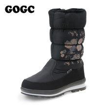GOGC bayan botları kış kadın kış yüksek çizmeler kadın kar botları kış kadın botları su geçirmez yarım çizmeler düz ayakkabı 9620(China)