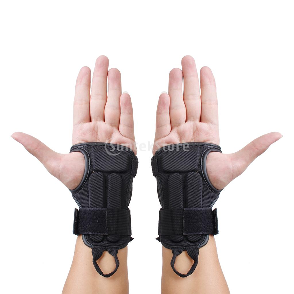 New 2014 Pair Snowboard Ski Protective Gear Glove Sport Wrist Support Guard Pads Brace Free Shipping(China (Mainland))