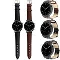 2016 steel Quality Luxury Brand Genuine Faux Leather Watch band Wrist strap For Huawei Smart Watch