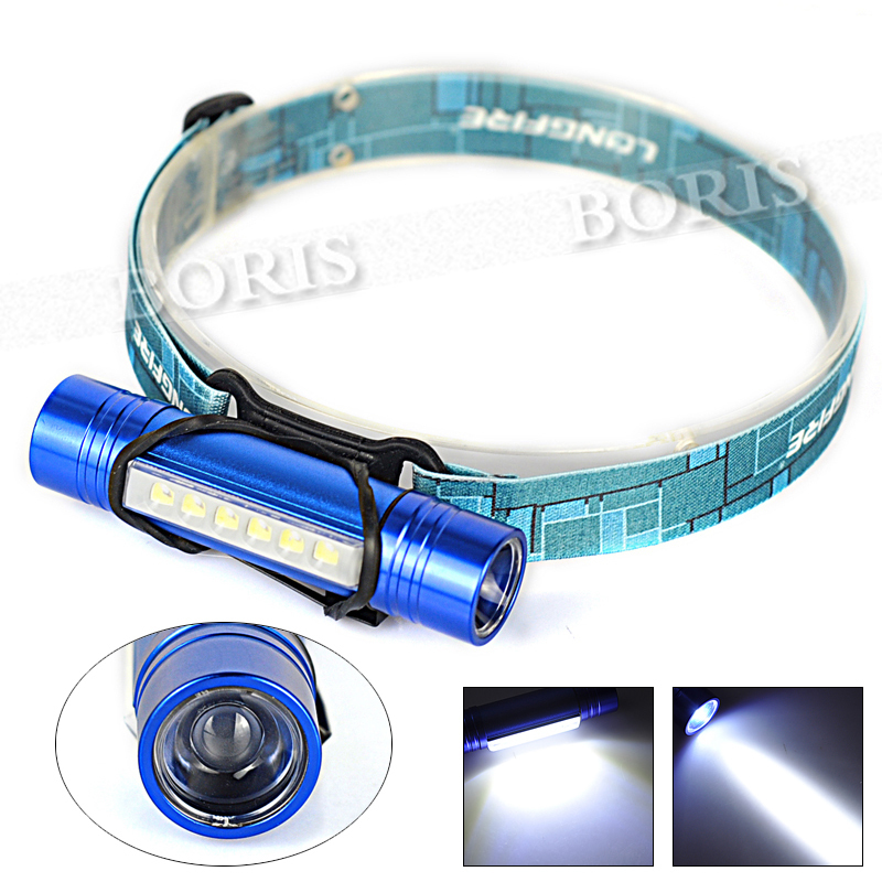 Hot Sale! Portable 550 Lumen CREE XPE Q5 LED+6LED Beads Headlamp Headlight Flashlight Head Light Lamp By AAA/18650 Wholesale<br><br>Aliexpress