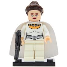 Wholesale Star Wars Princess LEIA Minifigures Building Blocks Single Sale 50pcs/lot Starwars Set Model Mini Figure Bricks Toys