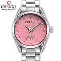 CHENXI Fashion Women Pink Dress Watches Luxury Female Casual Watch Ladies Rhinestone Quartz watch Wristwatches relogio
