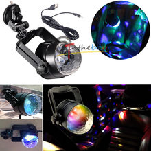 1PC Auto Car Disco DJ Stage Lighting LED RGB Crystal Ball Lamp Bulb Light Party(China (Mainland))