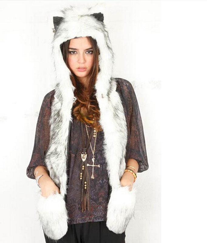 Livingston Winter Warm Plush Faux Fur Animal Paws Hat Hoods Gloves Scarf. by Livingston. $ - $ $ 14 $ 19 99 Prime. FREE Shipping on eligible orders. Some colors are Prime eligible. out of 5 stars Product Features Long animal paws can also be used as a scarf to keep your neck warm.