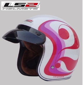 Free shipping LS2 OF583 Prince retro helmet helmet motorcycle helmet/Special white / Double Happiness