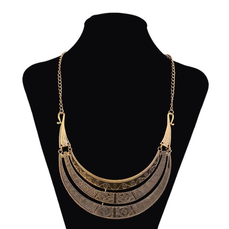 Ожерелье ювелирных изделий звезды 2016 новое поступление старинные три - слои золотые моменты заявление для женщин кольер роковой бижутерии