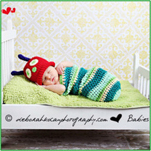 Newborn Baby Infant Crochet Knitting Costume Soft Adorable Clothes Photo Photography Props Handmade Hats & Caps for 0-3 Month