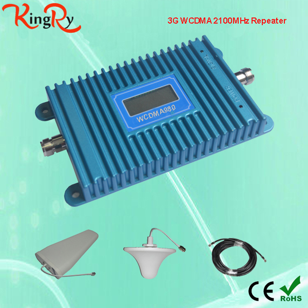 Manufacturer 3g antenna booster WCDMA 2100MHZ amplificador cell phone signal Amplifier RF Repeater Kit for Mobile Signal factory(China (Mainland))