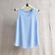 GAREMAY Women Chiffon Blouse Summer Sleeveless Camisa Candy Tops Femme Casual Fungus Collar Plus Size Cheap Clothes China 0098(China (Mainland))