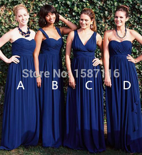 Navy blue bridesmaid dresses plus size
