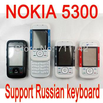 Original NOKIA 5300 Unlocked Phone Brand GSM Tri-Band  Camera Bluetooth support Russian Keyboard 6 color choose