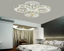 AC100-240V D50*H15cm 27W LED crystal ceiling light 3-lights lustres home decoration luminaria led ceiling lights for living room(China (Mainland))