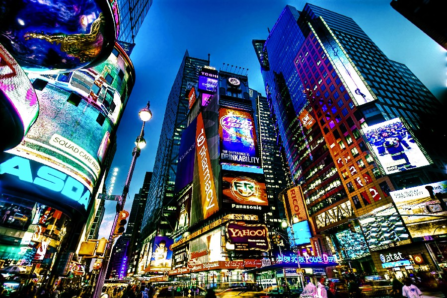 Times Square new york usa city cities neon lights cloth silk art wall poster and prints(China (Mainland))