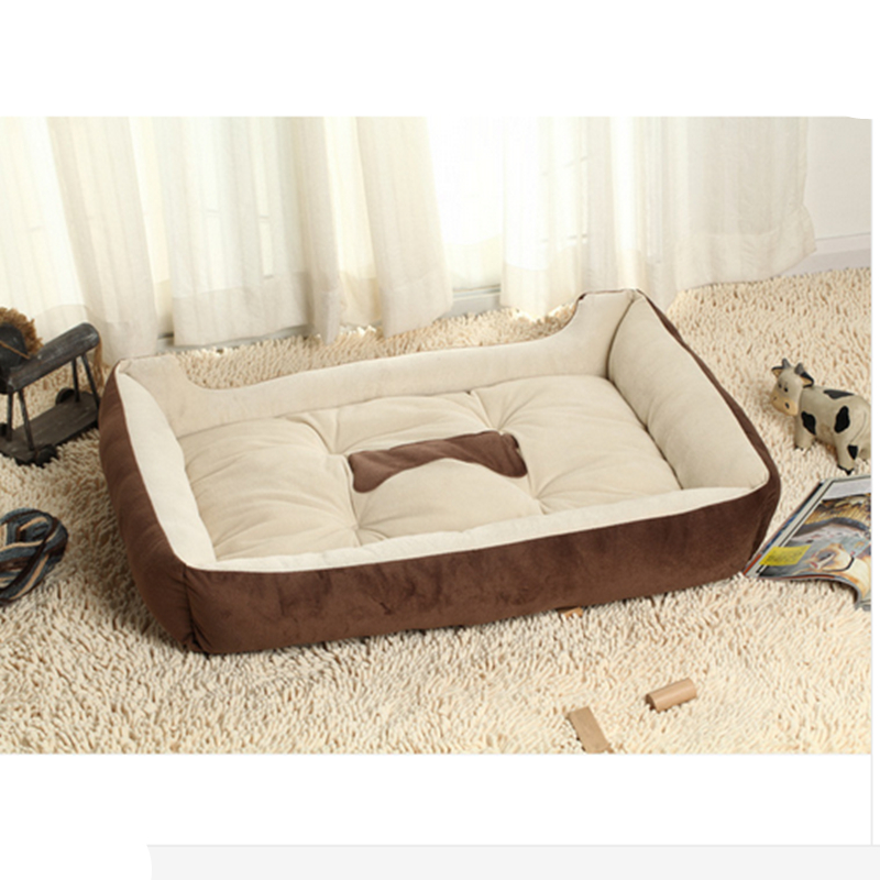 Big Size Large Dog Bed Kennel Mat Soft Fleece Pet Dog Puppy Warm Bed House Plush Cozy Nest Dog House Pad warm pet house b007