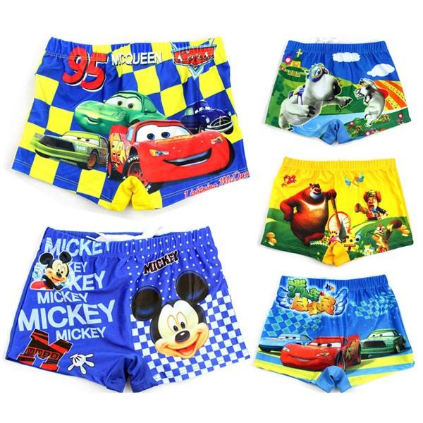 New 2015 Baby Boys Swimwear Kids Swimming Trunks Cartoon CARS Children Swimsuit Boys Summer Wear Trunks Child shorts/ 206(China (Mainland))