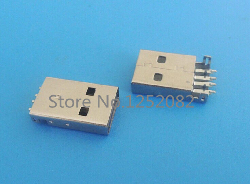 10PCS USB 2.0 Type-A Male 4 Pin Shen board SMD PCB installation Plug Connector<br><br>Aliexpress