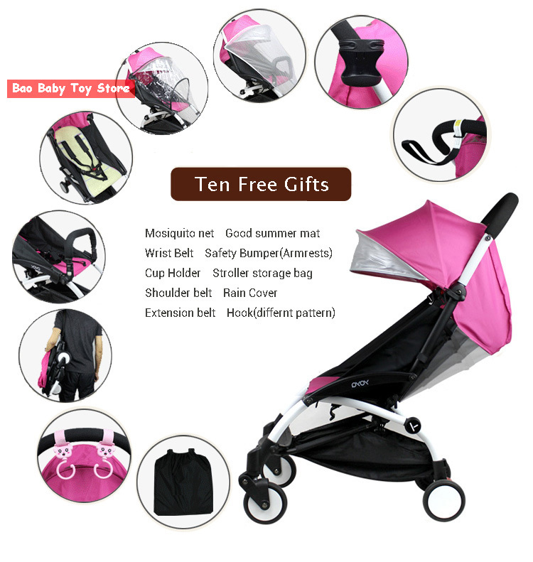 12 colors10 gifts 24 opitions yoya Four wheel light stroller baby stroller light folding umbrella car yoya babyzen in stock(China (Mainland))