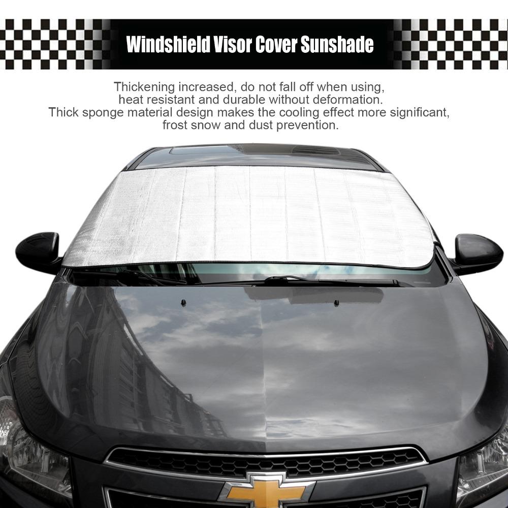 150*70CM Aluminum Foil Windshield Sun Shade Car Windshield Visor Cover Block Front Window Sunshade UV Protect Car Window Film(China (Mainland))