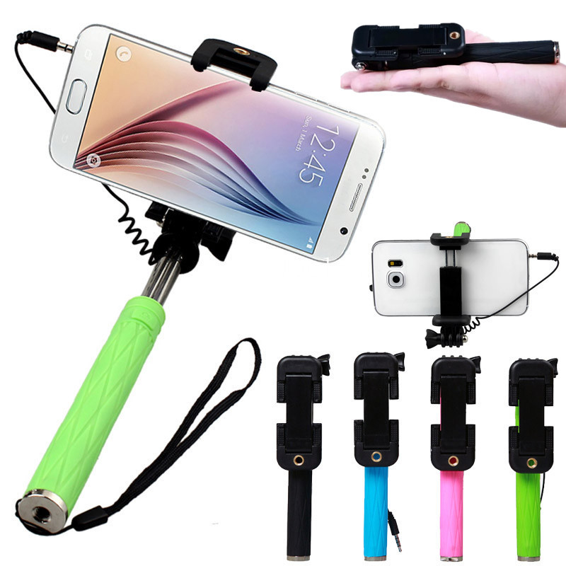 Super Mini Extendable Self Selfie Stick 100% Selfie iPhone Android iOS for iPhone Smart Phone Android iOS super mini handy selfie stick universal handheld monopod self timer selfie pole for ios android black