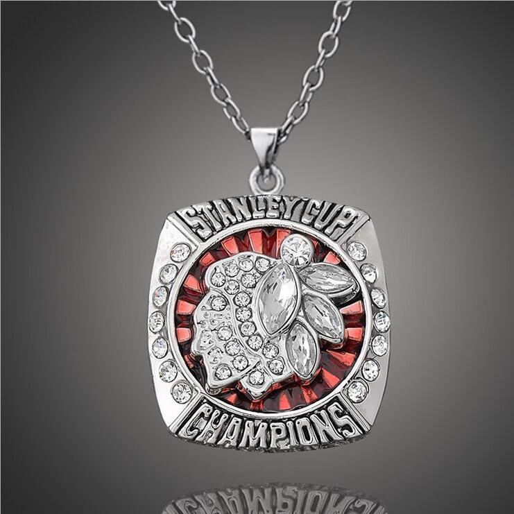 2013 Chicago Blackhawks Champion Necklaces Pendants National Hockey Championship Necklaces Classic Collection Jewelry(China (Mainland))