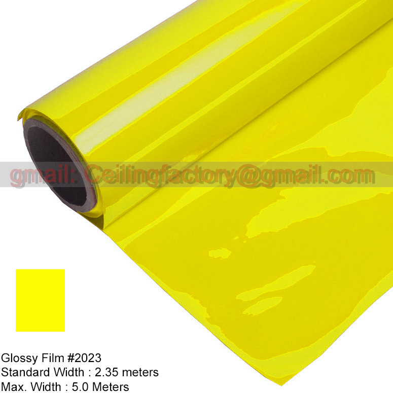 Langyu facctory is supplying glossy Film #2023; PVC Ceiling Stretch ; Standard size is : 2.35Meters X100Meters per Roll(China (Mainland))
