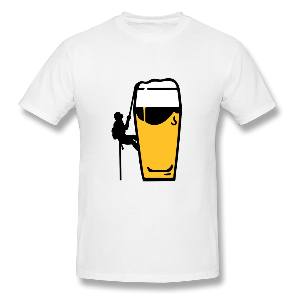Custom slim fit t shirt mens professional beerclimber beer How to sell shirts