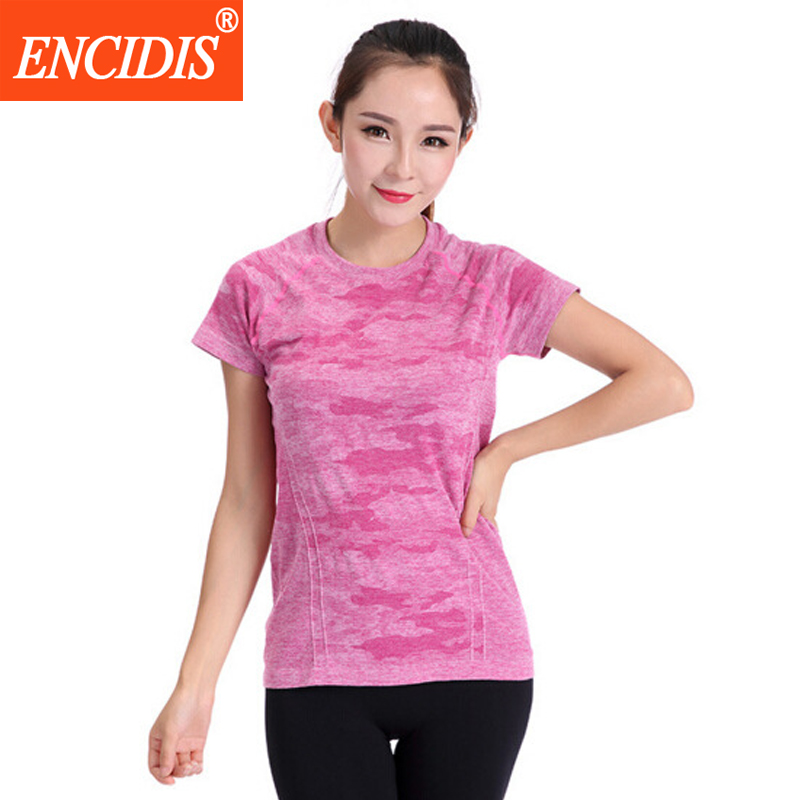 2016 New women Summer professional fitness Tees Quick Dry Lady short sleeve T-shirt Female Gym Running shirts Y155(China (Mainland))
