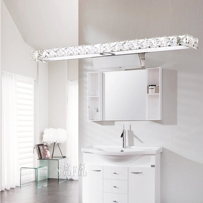 Simple Modern Crystal Wall Sconce Bathroom Wall Lamp LED Mirror Light Fixtures For Home Indoor Lighting Lampe Murale Lampara