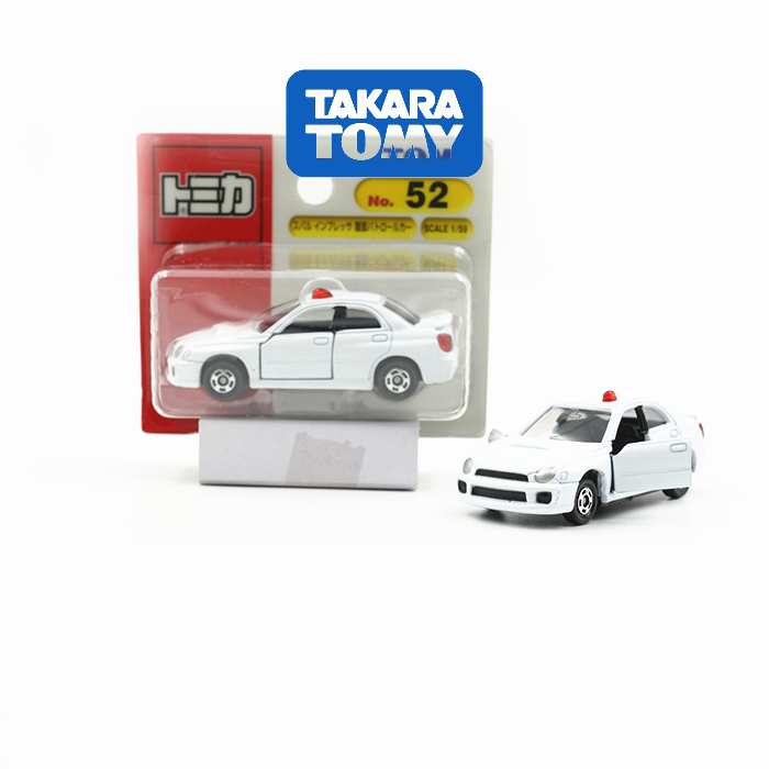 1pc Tomy 52 CAR Police Shock Absorber STI Japan Project Open Door Collection Super 1/59 Toy Classic 8cm Mini ABS Metal BOY GIFTS(China (Mainland))