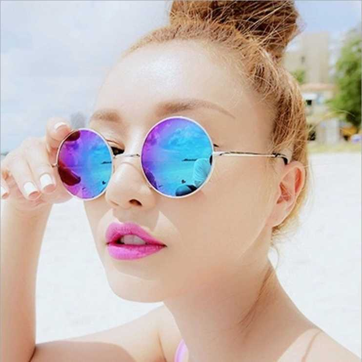 Hot Vintage Round lens Sunglasses Men women Polarized Gafas Oculos Retro Coating Sun Glasses Round