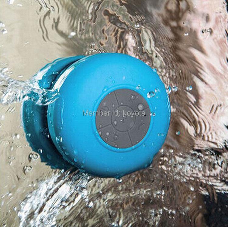 [해외]1PCS 블루 블루투스 스피커 샤워 휴대용 방수 무선 자동차 ..