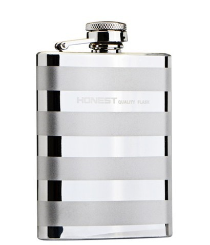 Hot saling 4oz Business mens' clever gift 304stainless steel outdoor portable flagon cross grain pattern flask(China (Mainland))